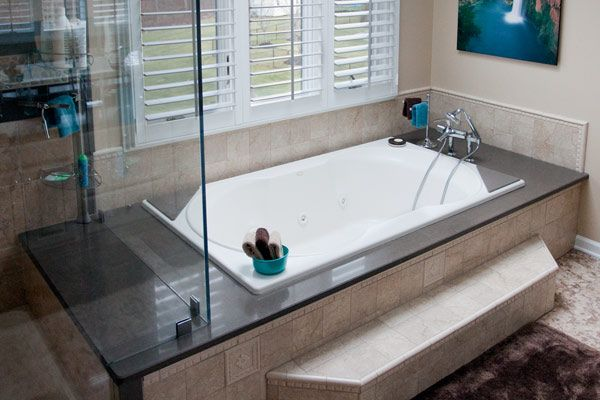 built in tub and shower. Arches Of Ornate Decorative Tile Invite You To Enter An Oversized Steam Shower  Built For Two A Deep Whirlpool Tub Natural Stone Marble Granite Onyx Bathrooms