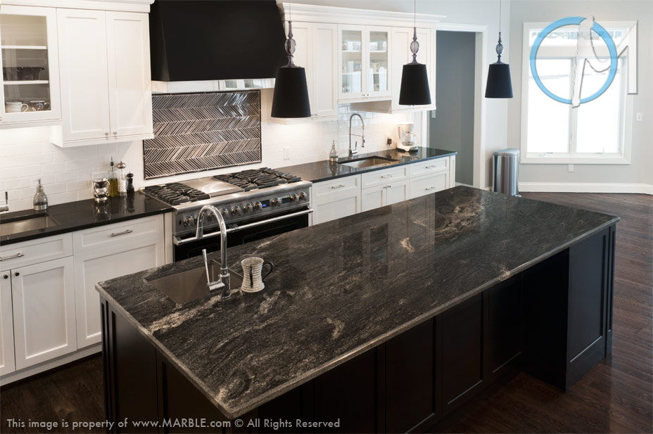 Granite Kitchen Countertops, Durable and Stylish on Dark Granite Countertops  id=48919