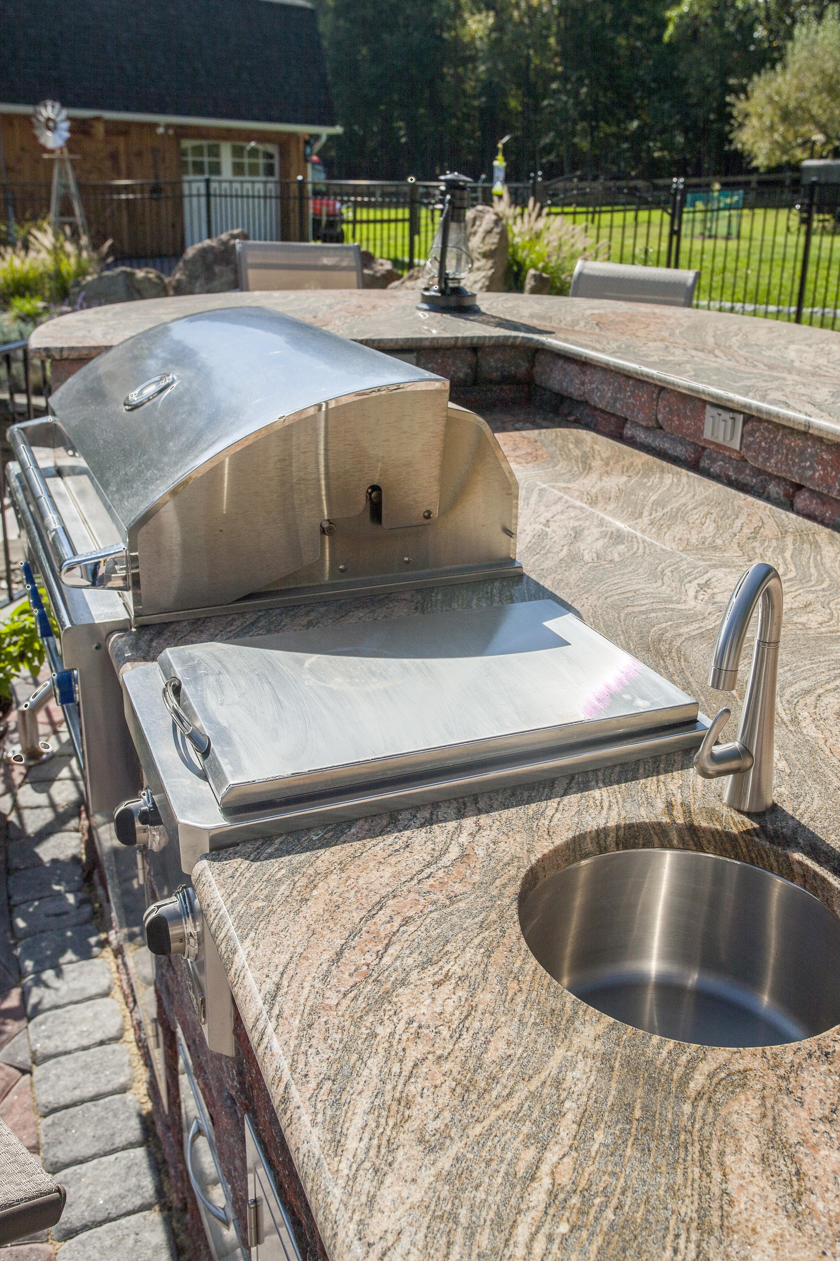 New Granite Countertop Outdoor Kitchen