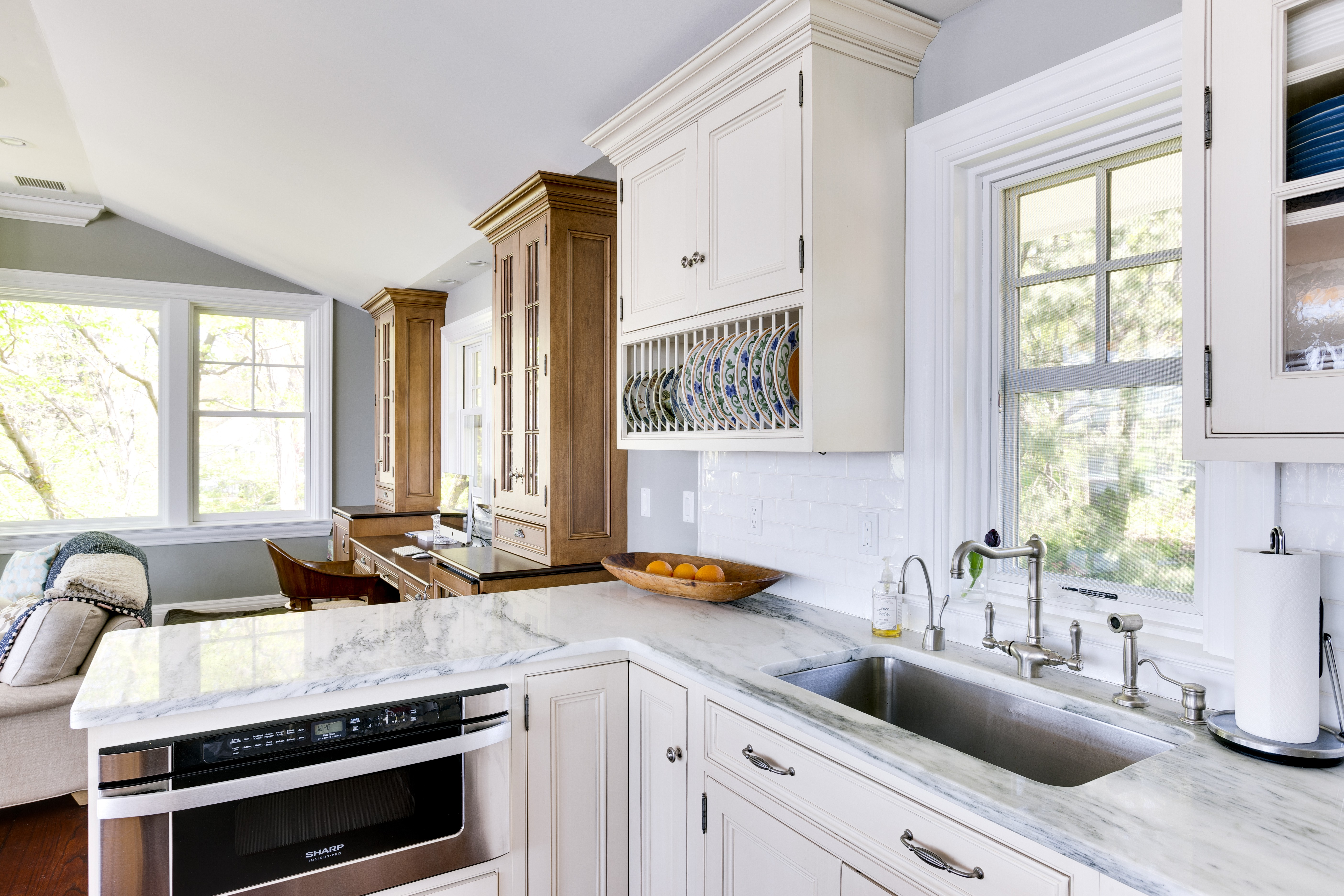 ... Catch And Reflect Sunlight To Make Your Kitchen Look Larger And More  Pristine Than It Really Is. If Your Kitchen Is On The Smaller Side, White  Cabinets ...