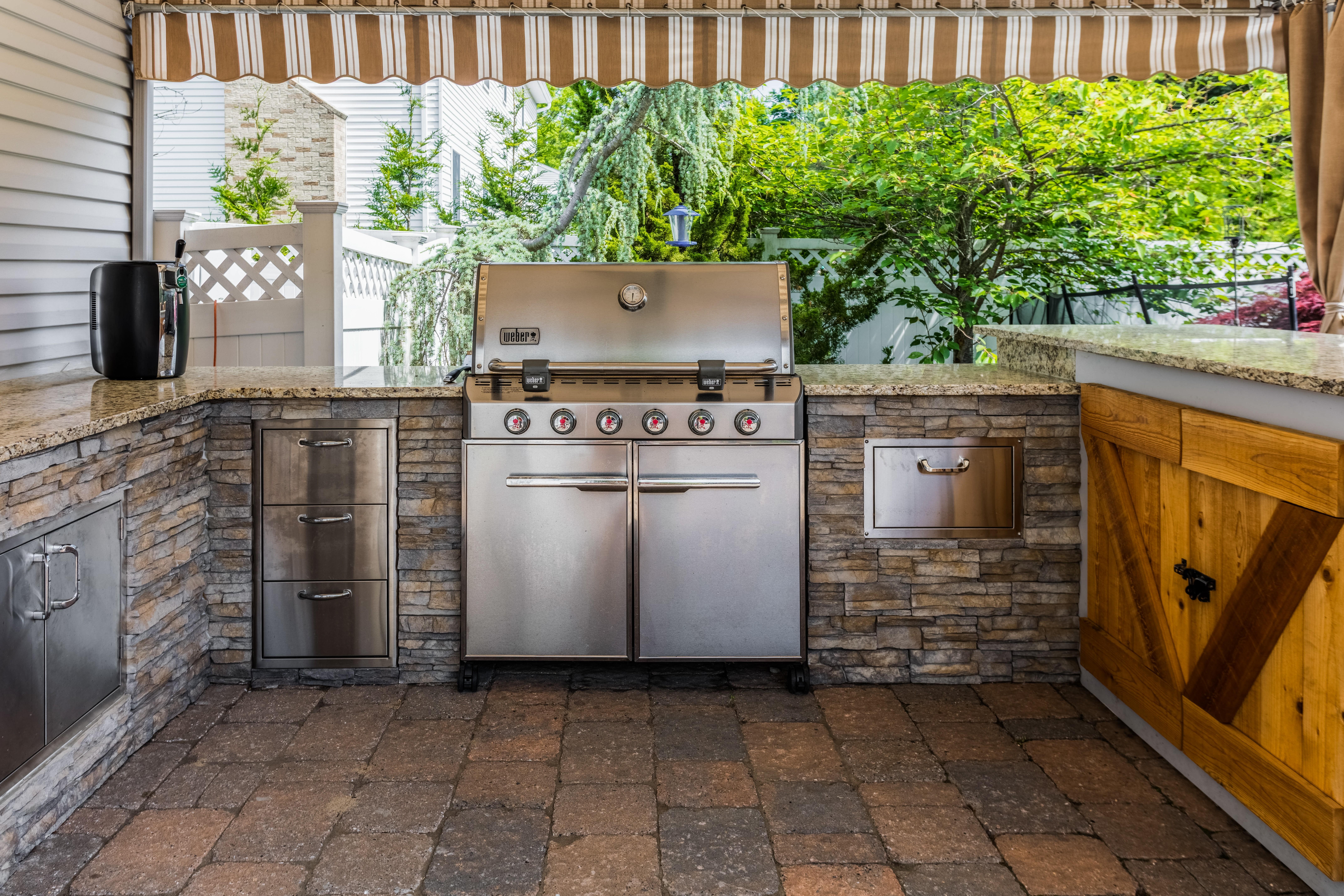 granite outdoor kitchen design giallo napole granite new countertop outdoor kitchen