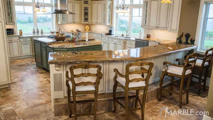 Peregrine C kitchen granite countertop
