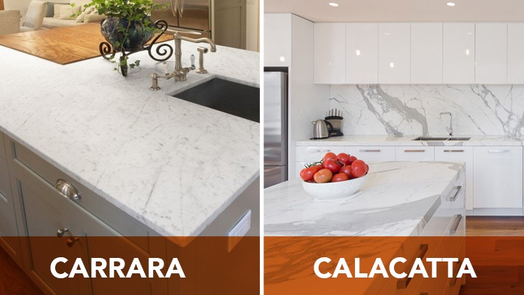 The Differences Between Calacatta And Carrara Marble