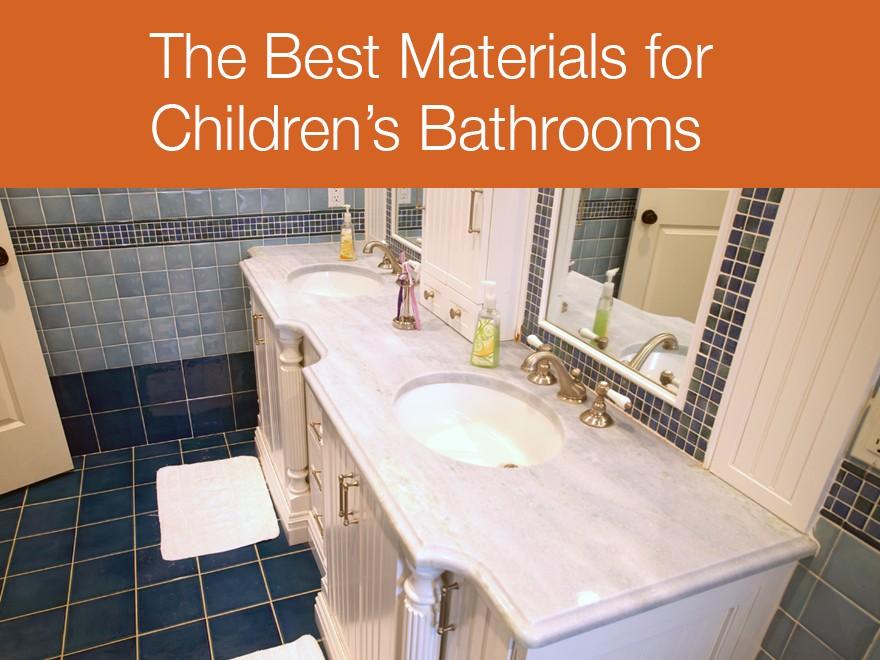 The best countertops for children s bathrooms for Best bathrooms for kids