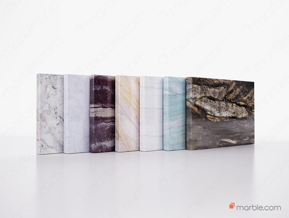 Seven different Quartzite Stones