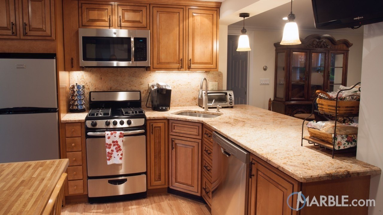 Marble Small Block : Beige countertop kitchen design tips and tricks great ideas