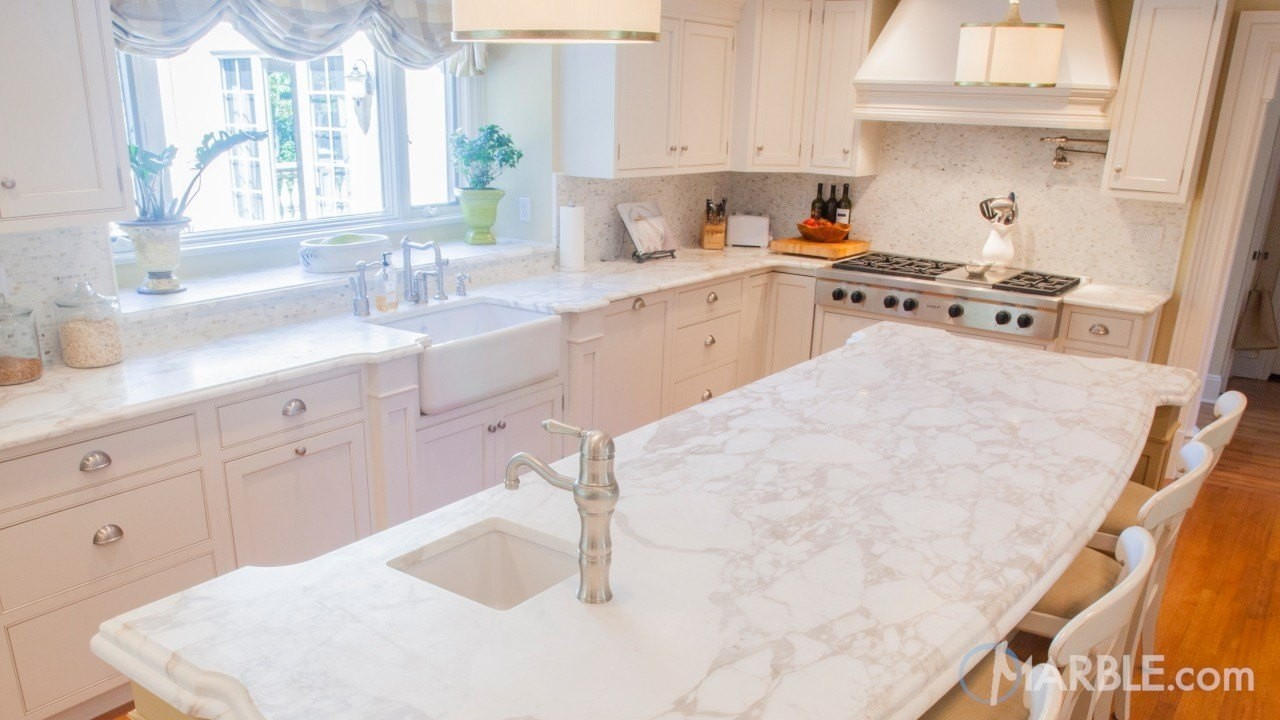 The World's Most Desirable White Marble Countertops