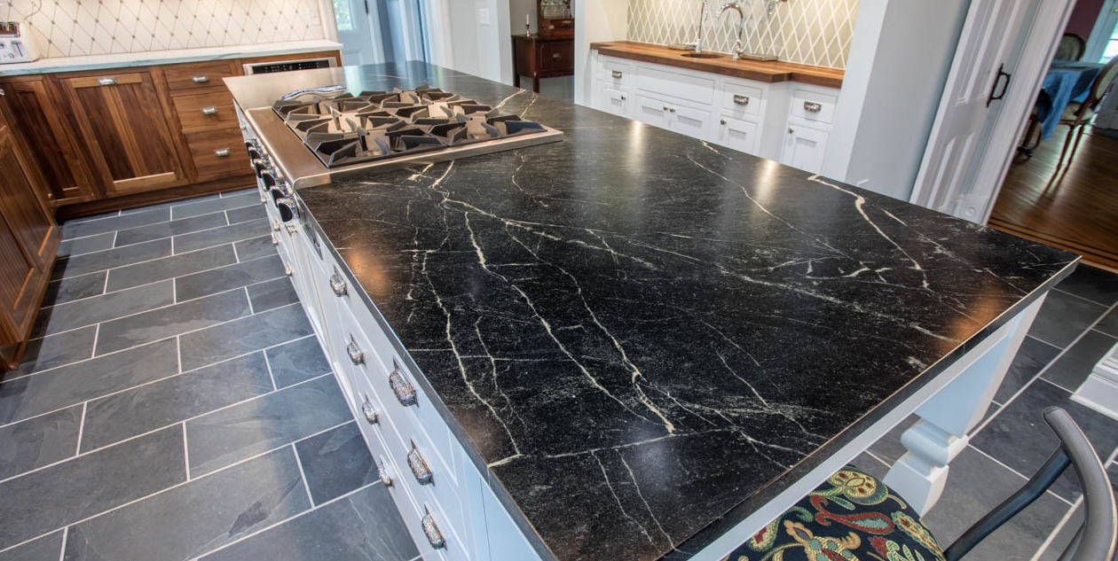 Attirant Enjoy Both The Beauty And Safety Of A Soapstone Kitchen Countertop. Its  Non Porous Quality Allows The Food And Drug Administration To Recognize  Soapstone As ...