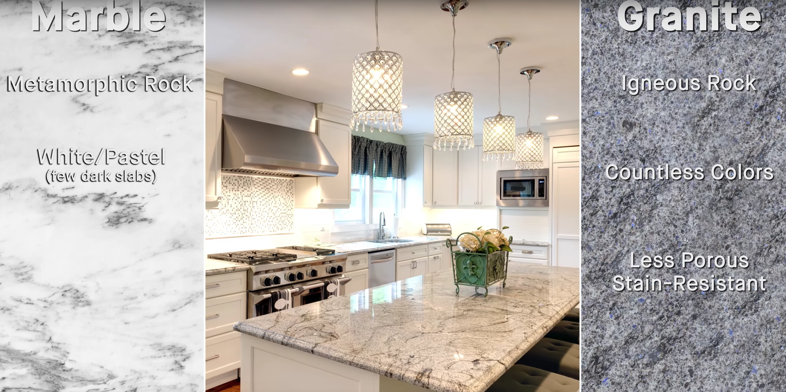 How to Tell Granite from Marble; countertop tips and tricks