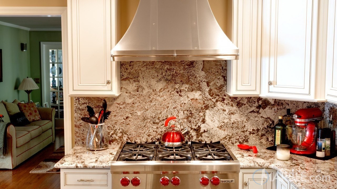 If You Are Renovating Your Kitchen Countertops With New Granite, Why Not  Install A Matching Granite Backsplash As Well? Granite Backsplashes Are A  Unique ...