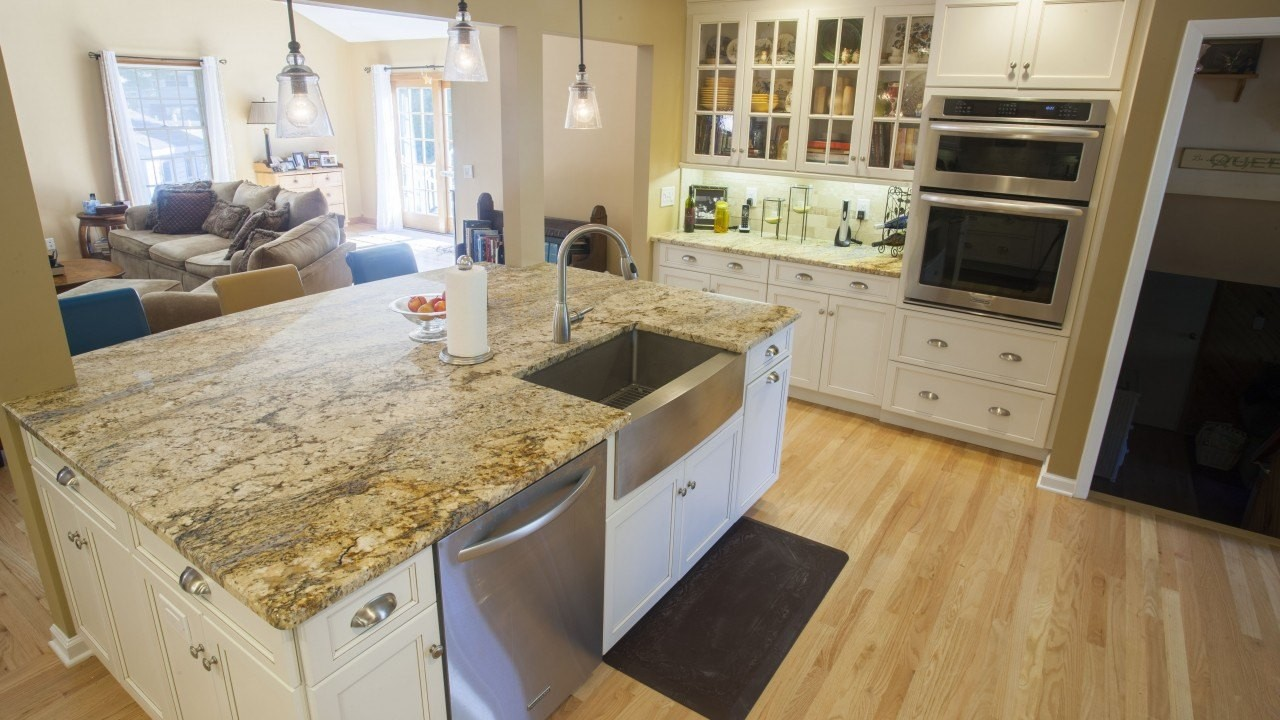 This Open Floor Concept Is Even Brighter With The Yellow River Granite  Kitchen Countertops