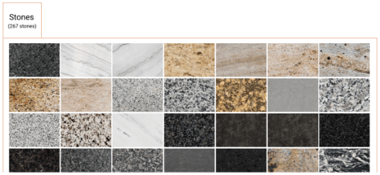 select stone material