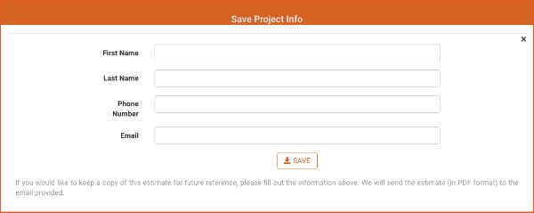 save estimate form