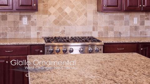 Giallo Ornamental Granite Countertops I   Marble.com TV Channel   Design  Concepts