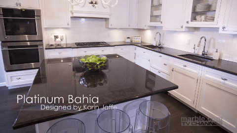 Platinum Bahia Granite Countertops   Marble.com TV Channel   Design Concepts