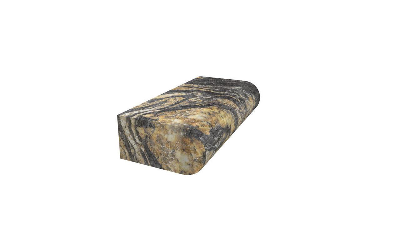 Full Bullnose Countertop Edge Marble