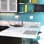 Classic White Quartzite Countertop In A Stunning Modern Kitchen | Marble.com