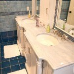 Classic White Quartzite Countertop In A Children's Bathroom | Marble.com