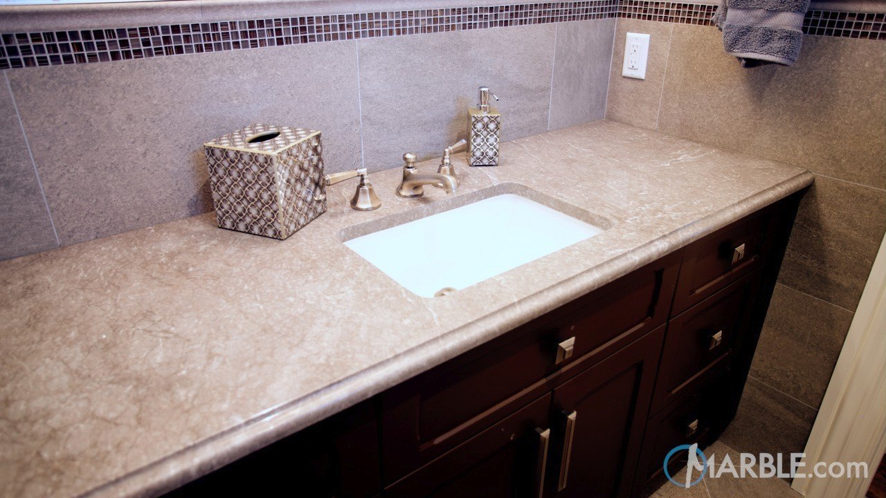 Corsica Grey Granite Bathroom Countertop | Marble.com