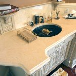 Crema Marfil Marble Wash Station | Marble.com