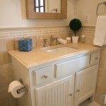 Crema Marfil Marble Vanity In A Elegant Guest Bathroom | Marble.com