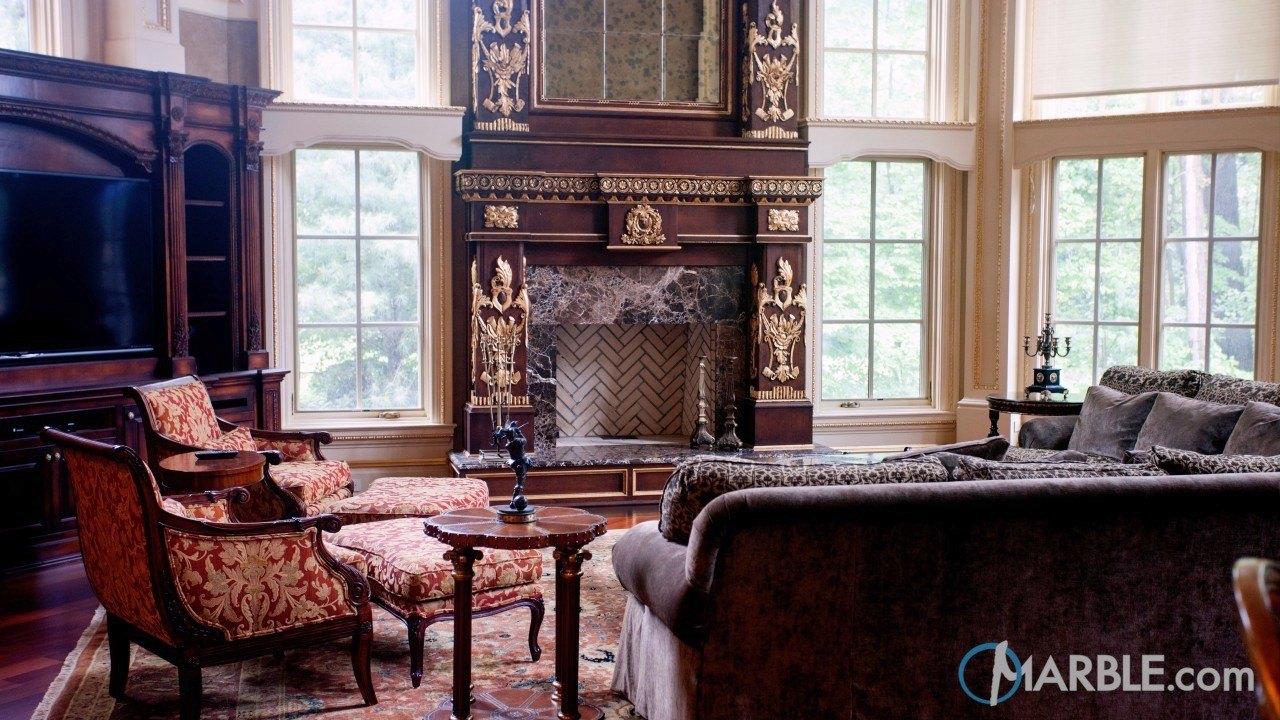 Emperador Dark Fireplace Surround | Marble.com