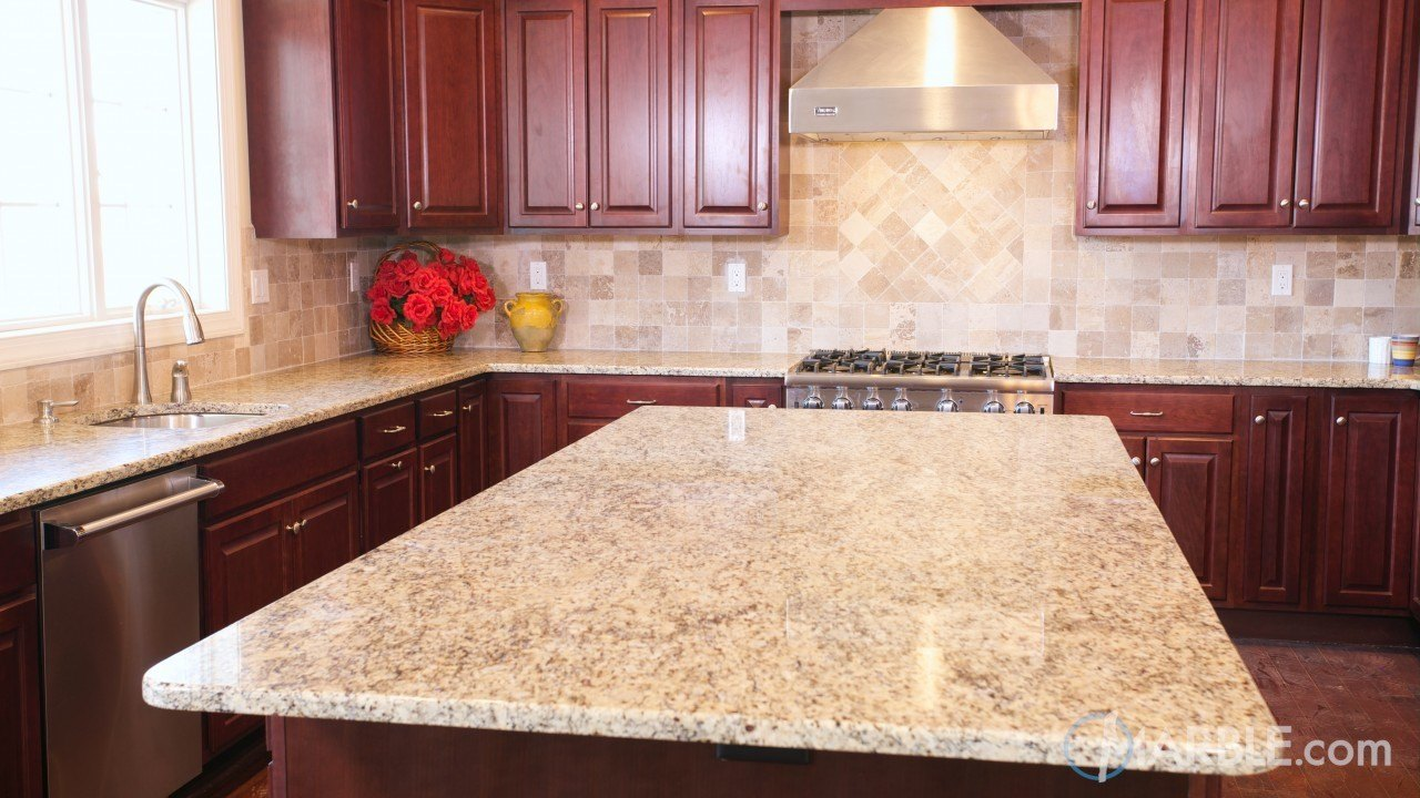 Giallo Ornamental Granite Kitchen Counters Marble