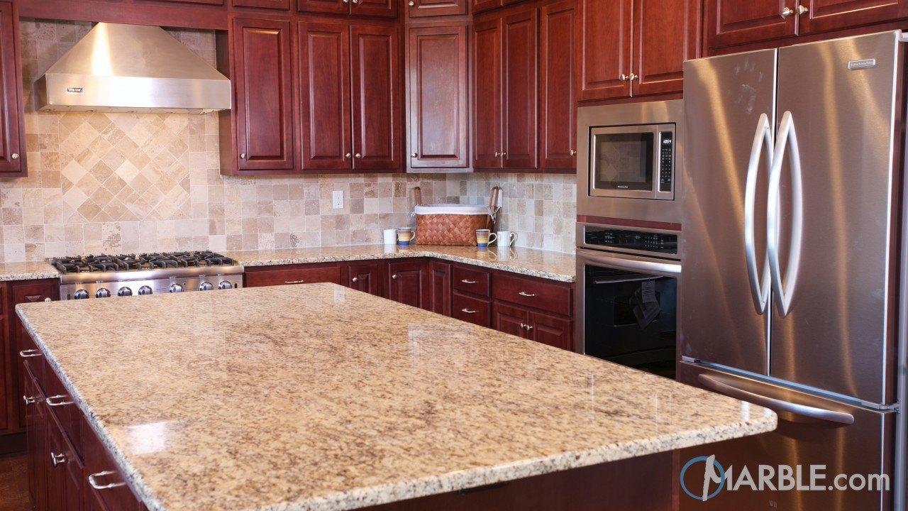 Giallo Ornamental Granite Kitchen | Marble.com