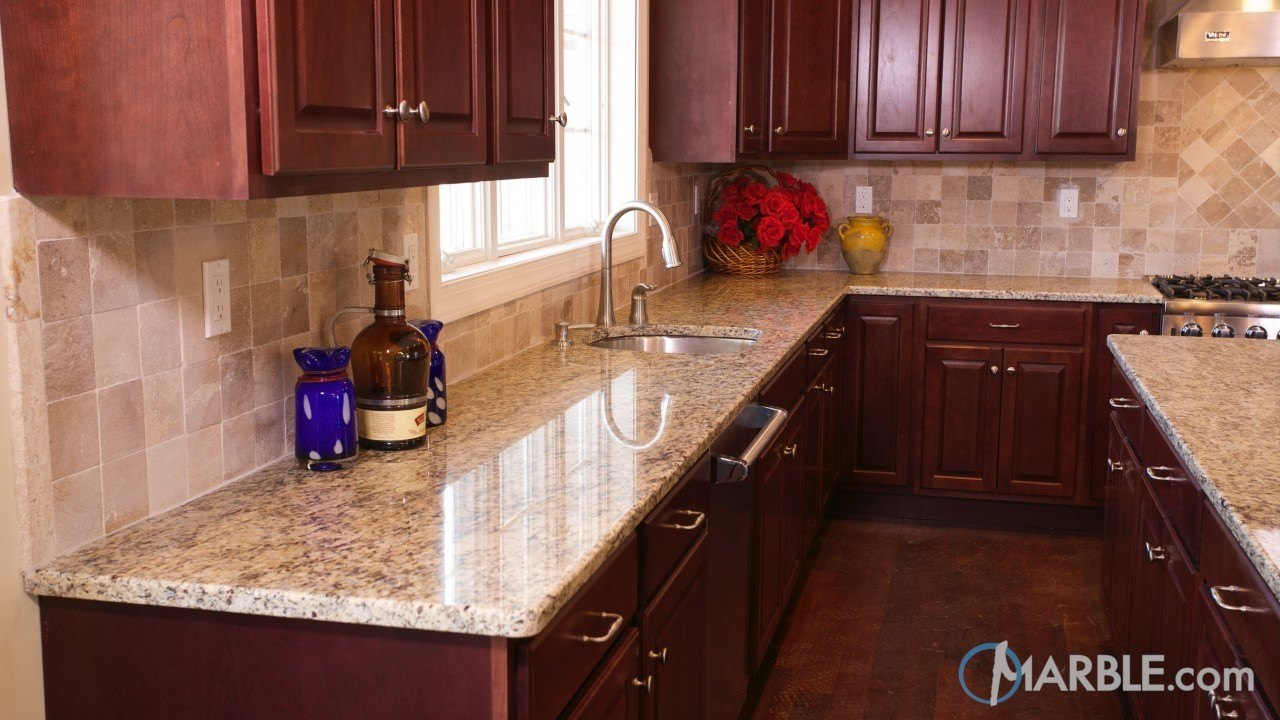 Giallo Ornamental Granite Kitchen Counters