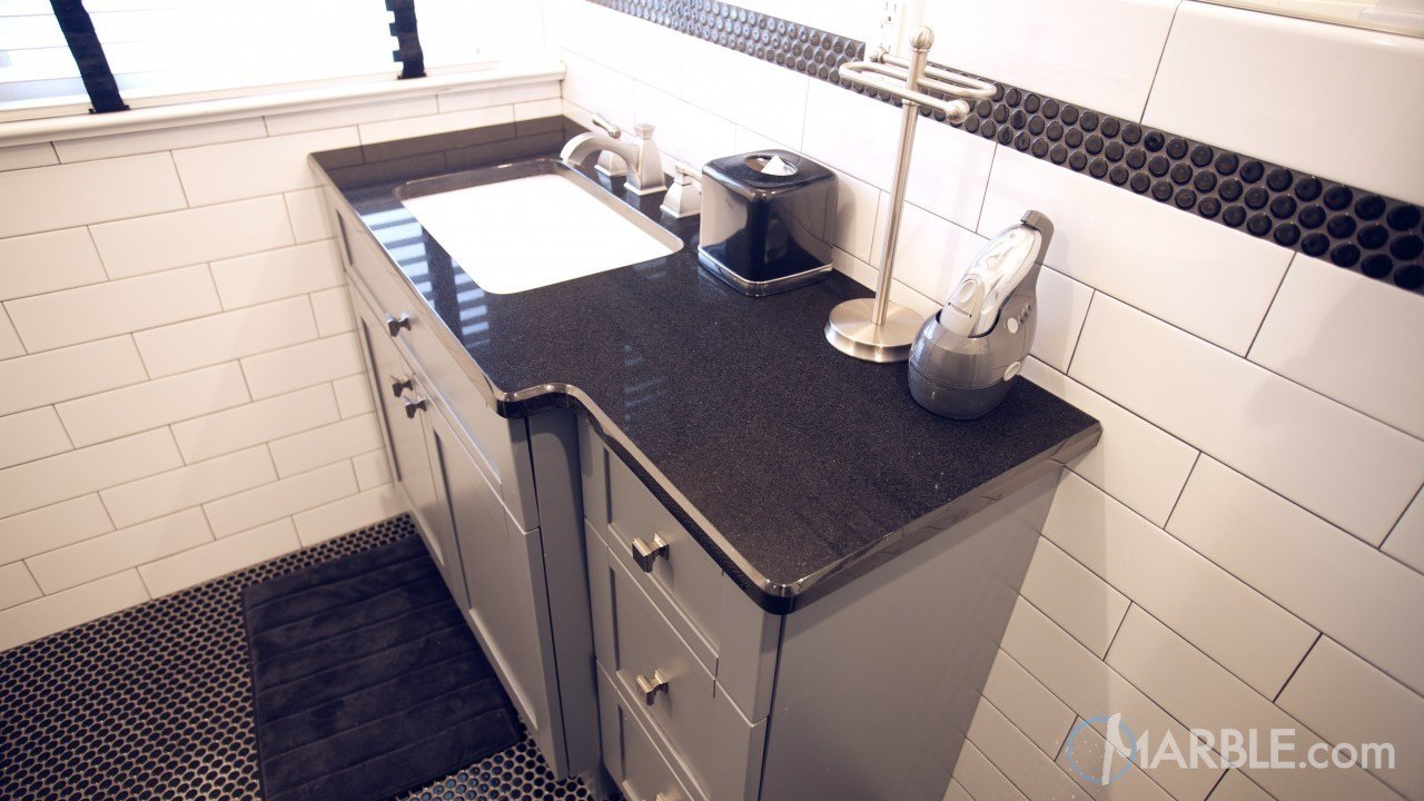 Absolute Black Granite Bathroom Vanity | Marble.com