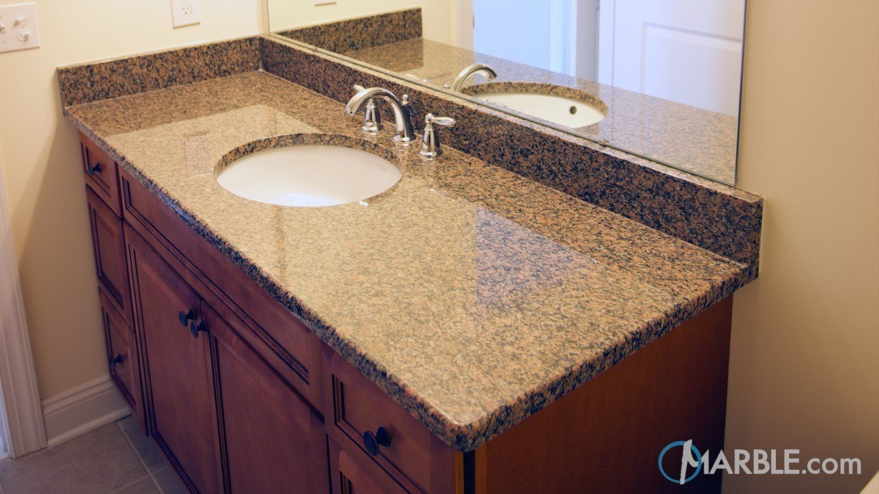 Giallo Floritio Granite Bathroom | Marble.com