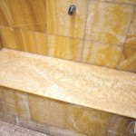 Honey Onyx Shower Seat (Bench) | Marble.com