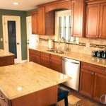 Ivory Gold Kitchen Countertop With Dual Islands   Marble.com