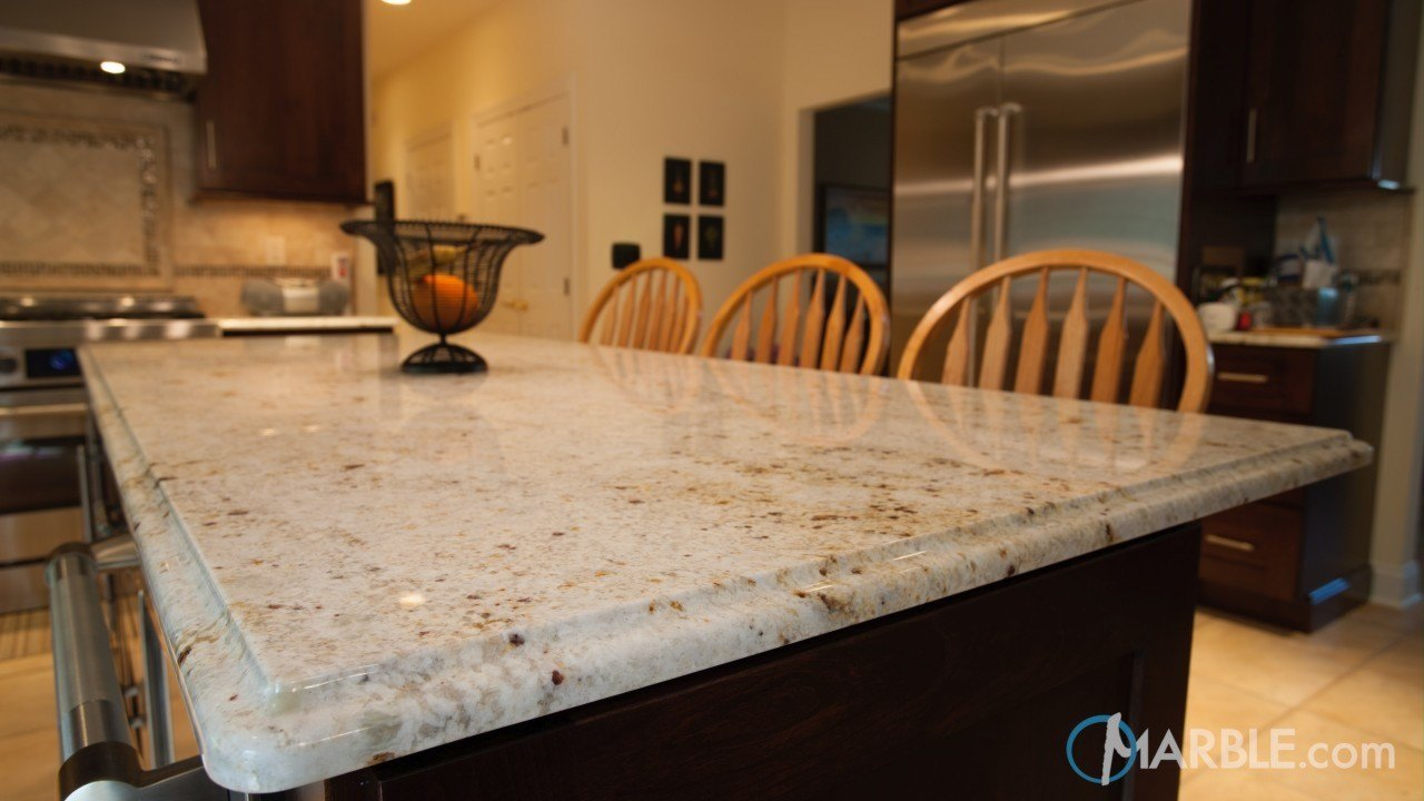 Kashmir Gold Granite Kitchen | Marble.com