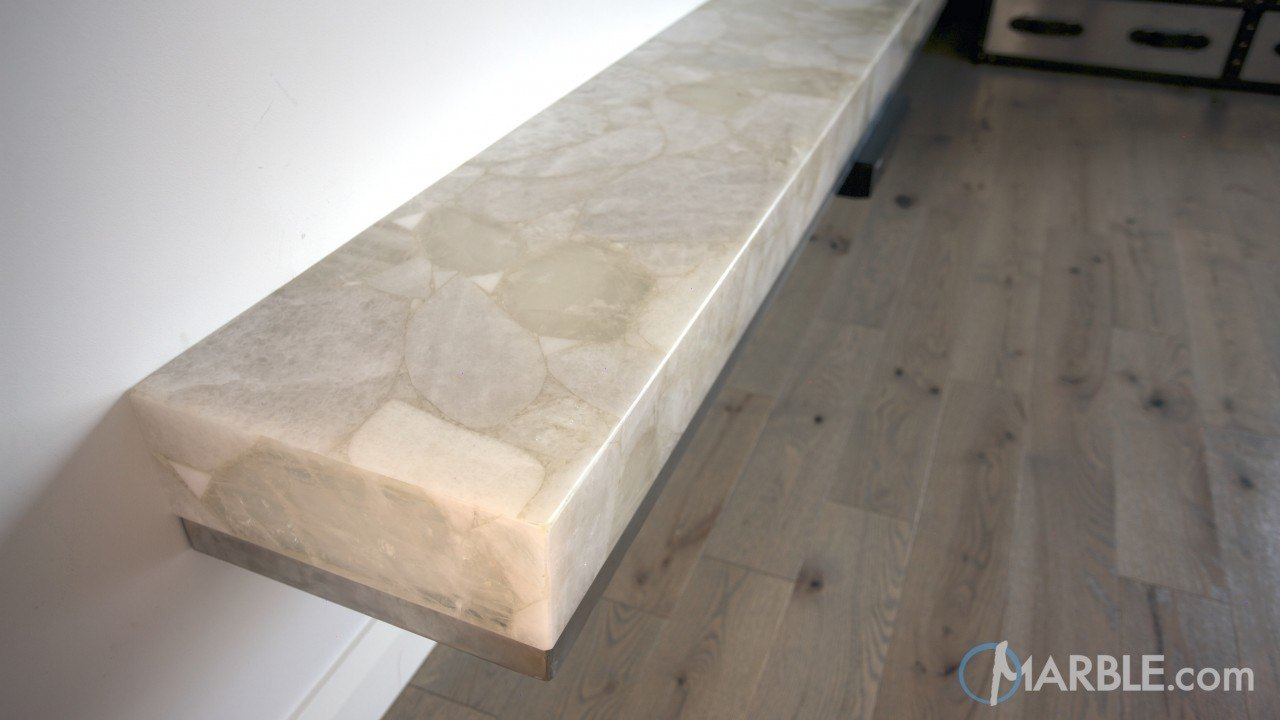 Light Pistachio Backlit Onyx Seat / Shelf | Marble.com