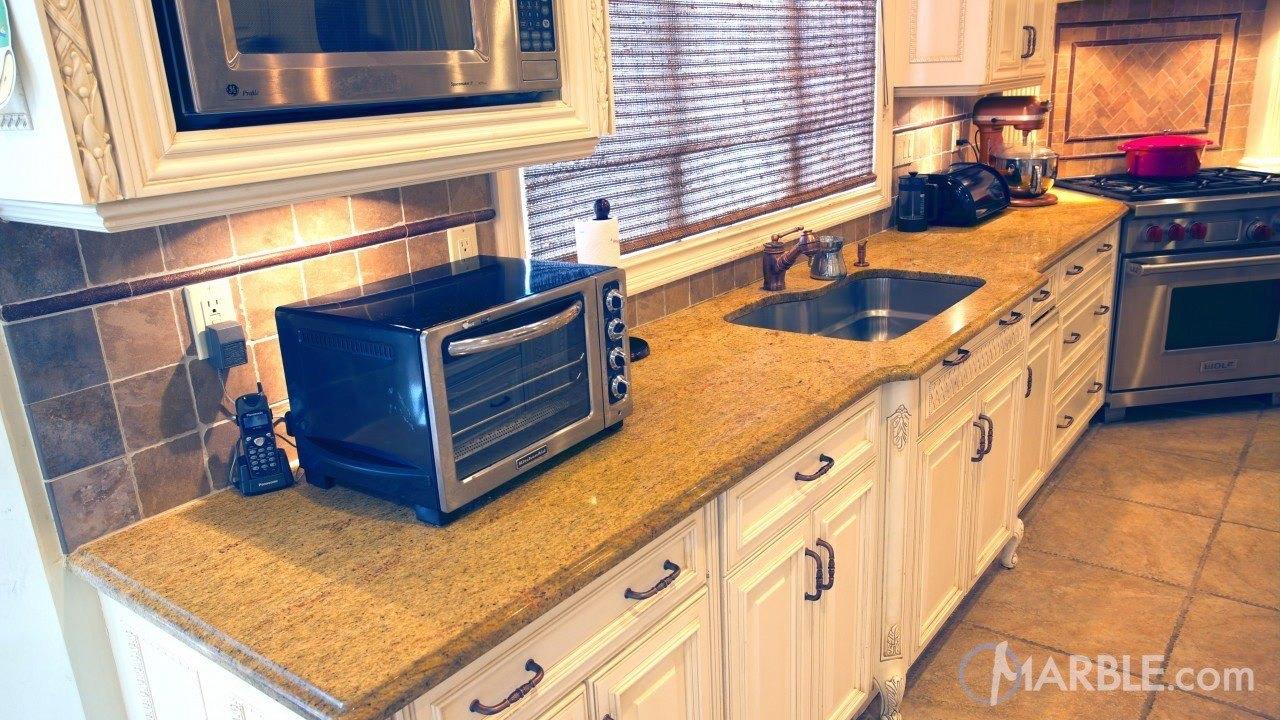 Madura Gold Granite Kitchen Countertop | Marble.com