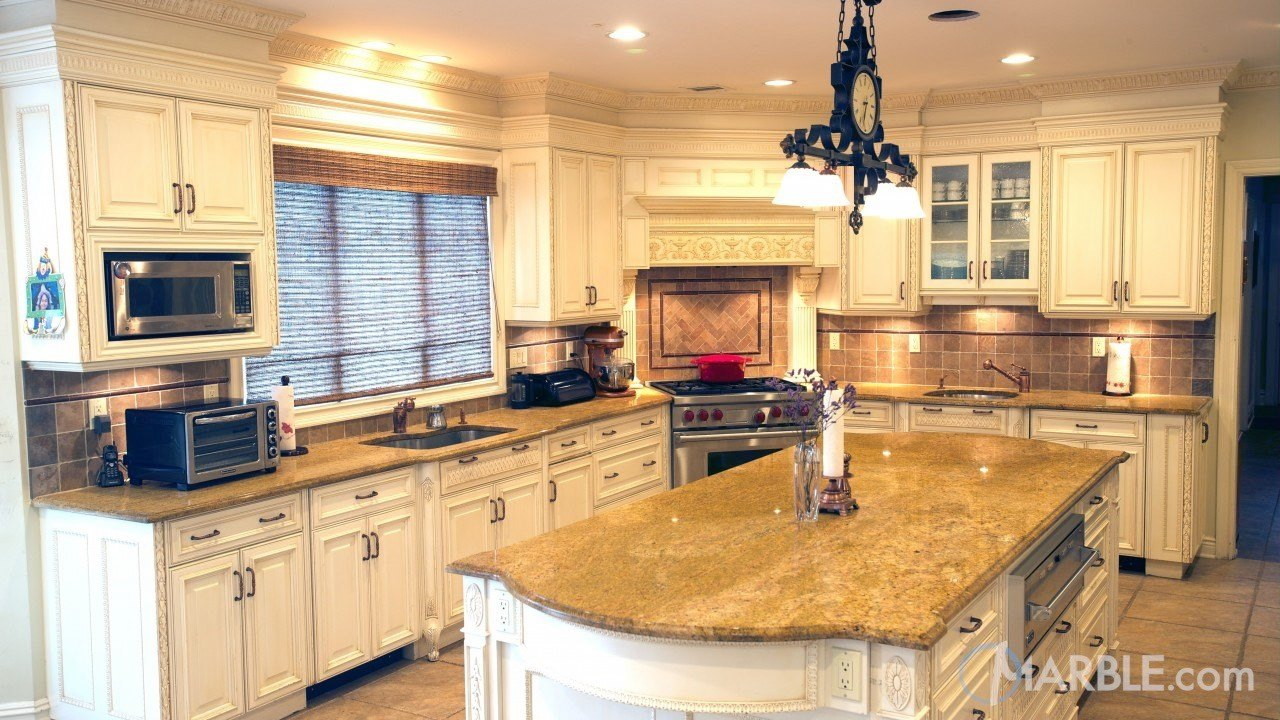 Madura Gold Granite Kitchen | Marble.com