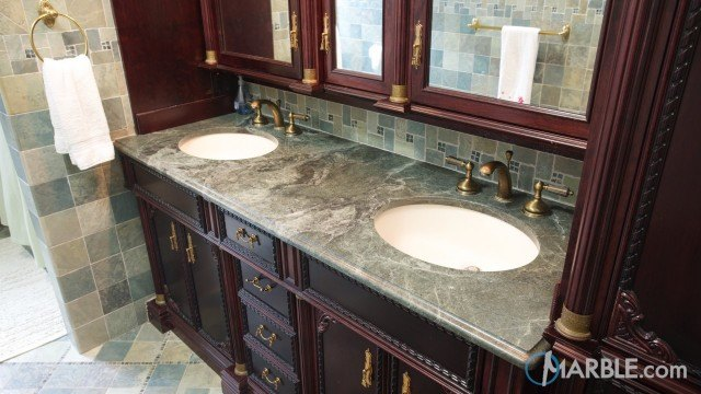 Exceptional Green Ocean Granite Bathroom Countertops