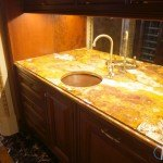 Multi Brown Gold Onyx Butler Pantry Countertop | Marble.com