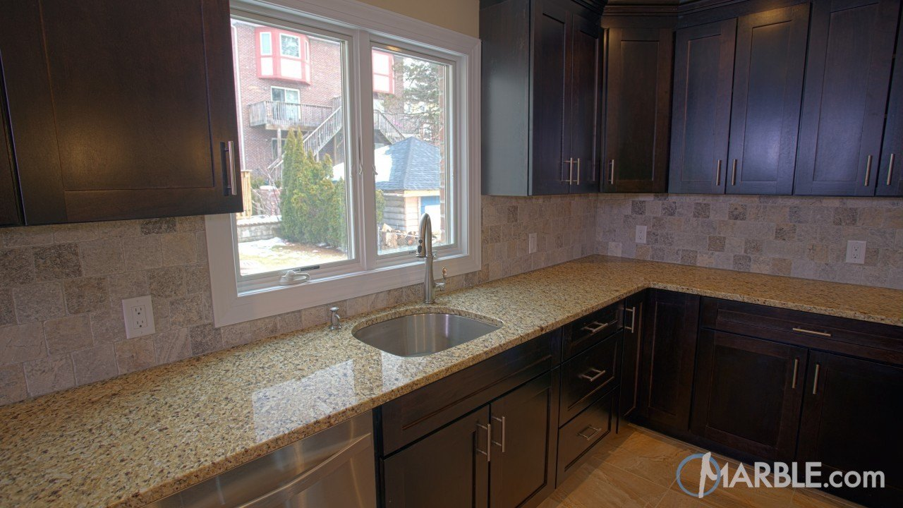 Santa Cecilia Granite In A New Kitchen | Marble.com