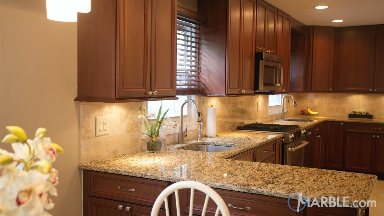 Savannah Gold Granite Kitchen | Marble.com