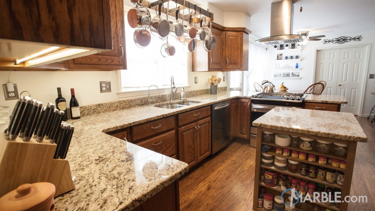 Giallo Ornamental Granite Kitchen Countertop | Marble.com