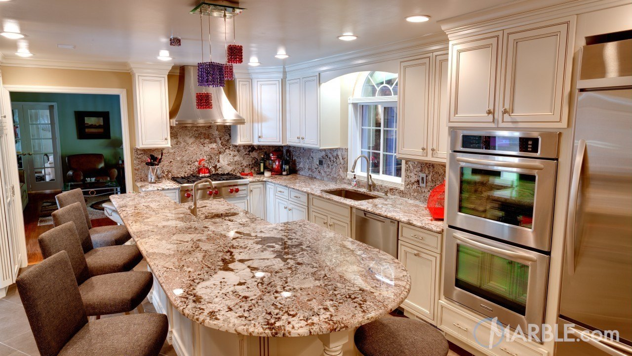 Bianco Antico Granite Countertop Design Ideas and Gallery.