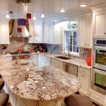 Bianco Antico Granite Kitchen Countertop With Full Back Splash | Marble.com