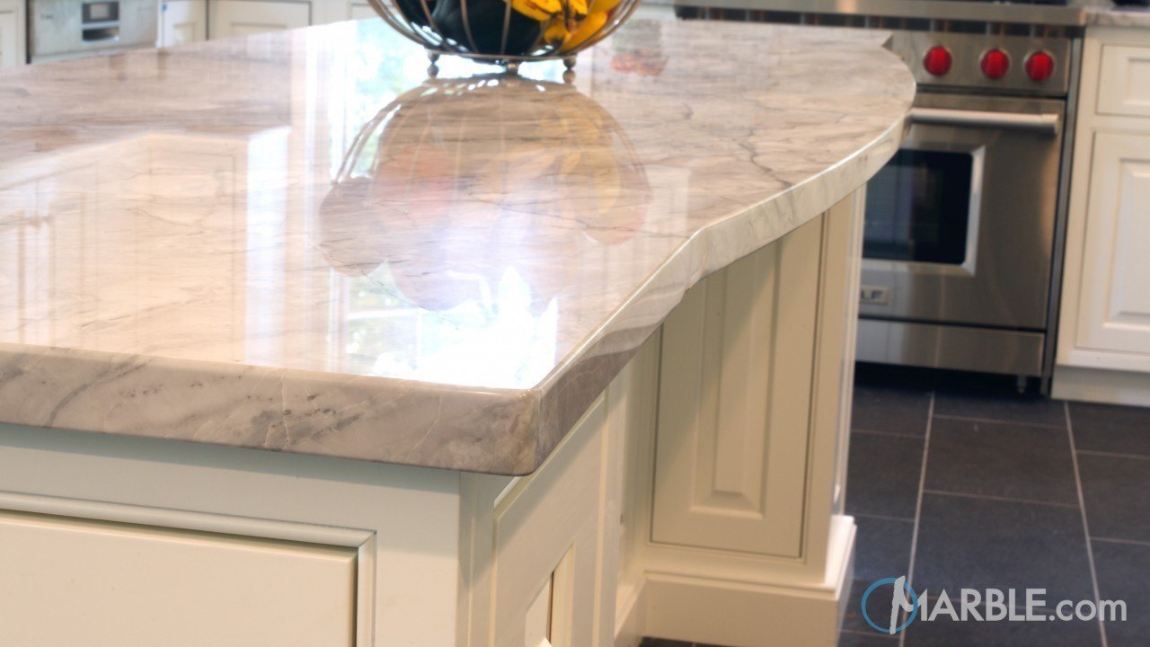 Super White Quartzite Kitchen | Marble.com