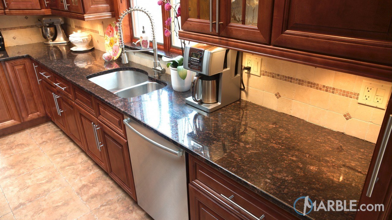 Tan Brown Granite Kitchen | Marble.com
