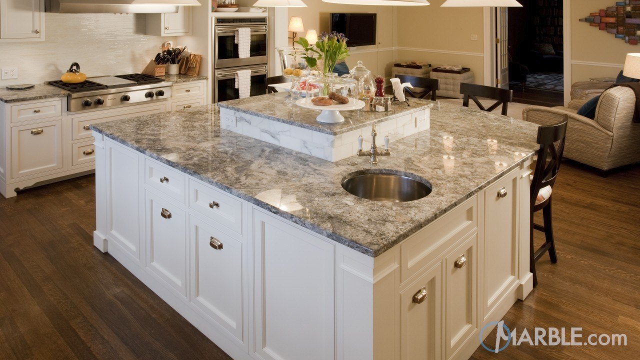 Azul Aran Granite Kitchen | Marble.com