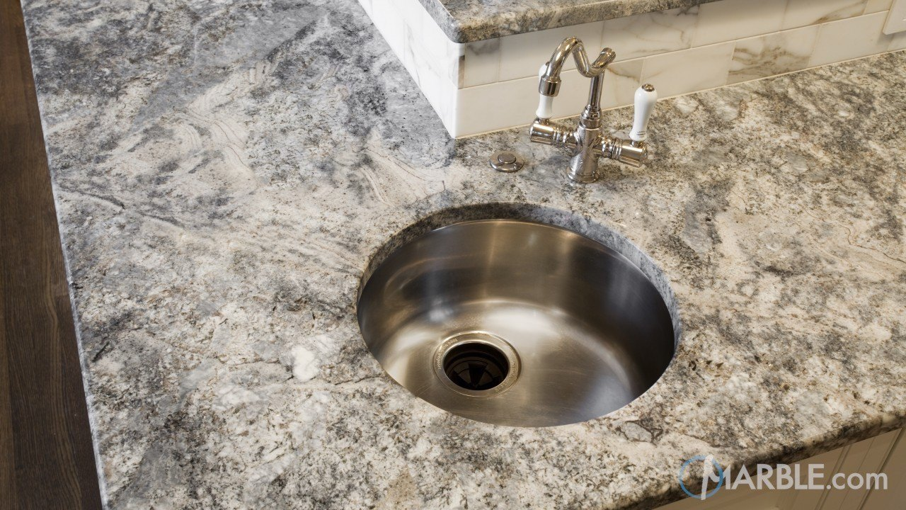 Azul Aran Granite Kitchen Countertop | Marble.com