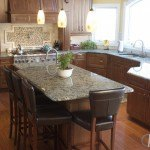 Blue Eyes Granite In A Large Kitchen   Marble.com