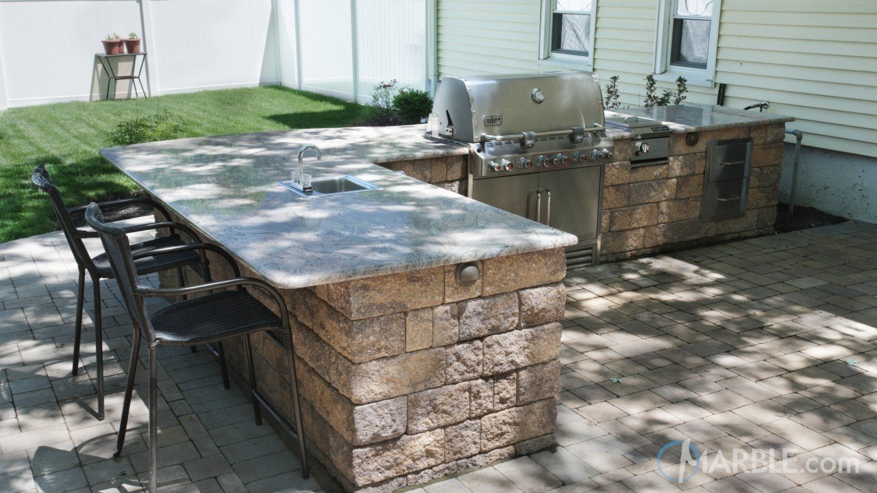 Astoria Granite In An Outside Barbecue | Marble.com